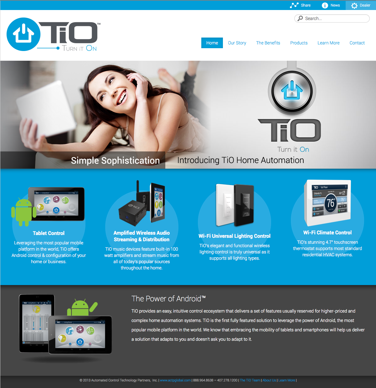 tio turn it on website homepage